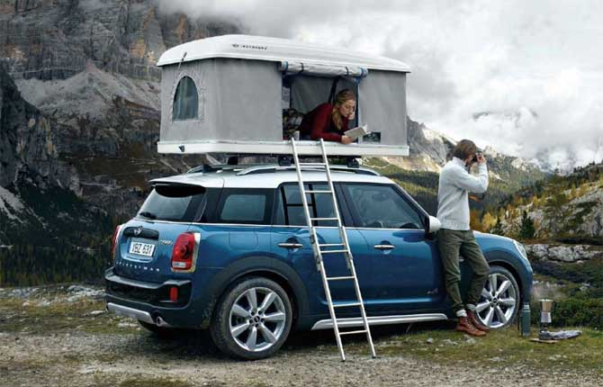 La mini con la casetta sul tetto vendita di auto nuove e usate